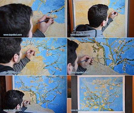 Blossoming Almond Tree by van Gogh - Painting Reproduction