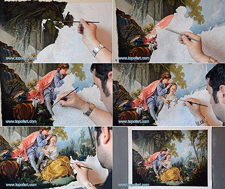 Spring by Boucher - Painting Reproduction