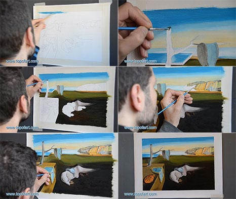 The Persistence of Memory by Dali - Painting Reproduction