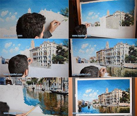Palazzo Cavalli-Franchetti, Venice by Federico del Campo - Oil Painting Reproduction