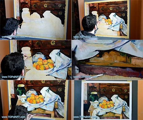 Still Life with Commode by Cezanne - Painting Reproduction