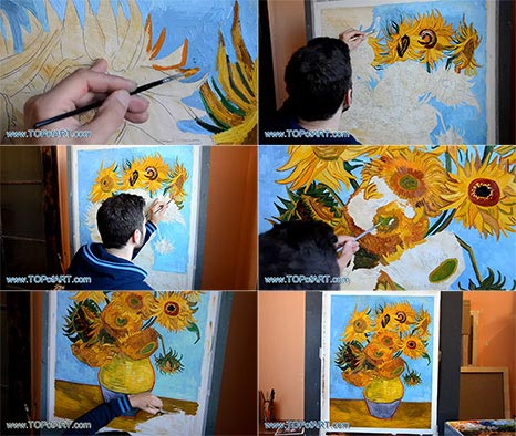 Vase with Twelve Sunflowers by Vincent van Gogh - Painting Reproduction