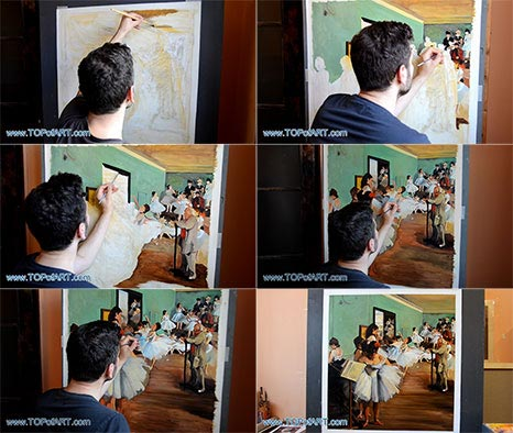 The Dance Class by Degas - Painting Reproduction