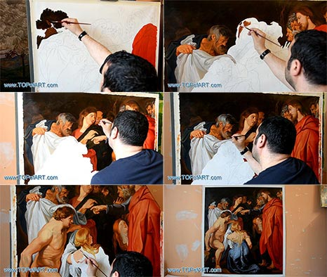 Raising of Lazarus by Rubens - Painting Reproduction