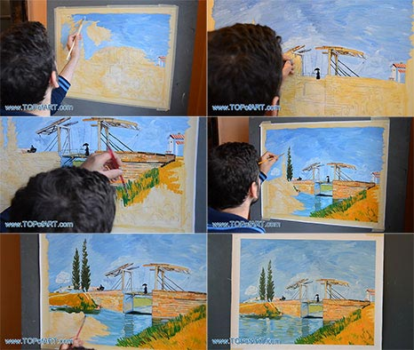 The Langlois Bridge at Arles by van Gogh - Painting Reproduction