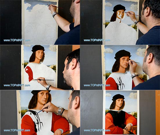 Portrait of Agnolo Doni by Raphael - Painting Reproduction