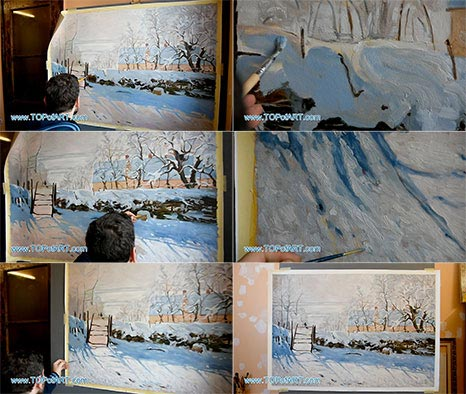 The Magpie by Monet - Painting Reproduction