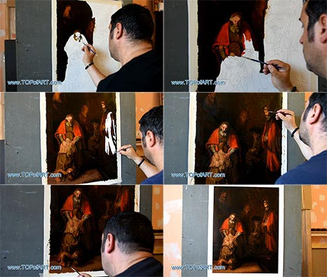 The Return of the Prodigal Son by Rembrandt - Painting Reproduction