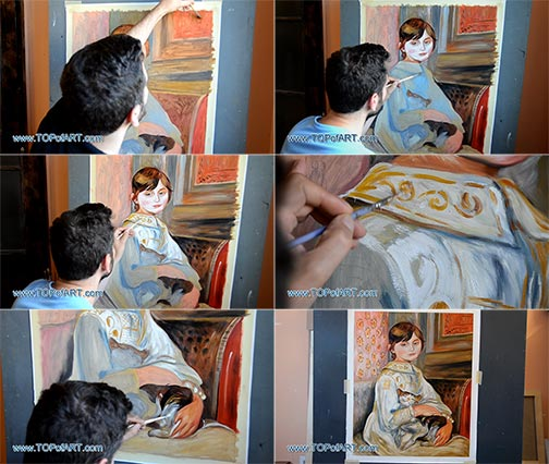 Child with Cat by Renoir - Painting Reproduction